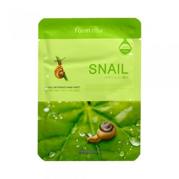 Farm Stay 蝸牛修護面膜  :含豐富的天然膠原質、蝸牛黏液、彈力蛋白、蛋白質、多種維生素、甘醇酸等。10pcs(bag)