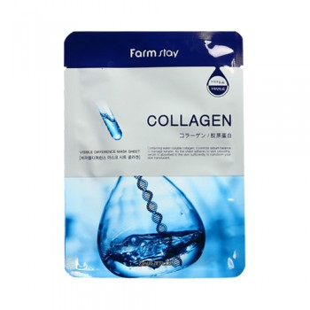 Farm Stay 高效骨膠原面膜   商品簡介 快速滋潤保濕,補充乾燥皮膚水分,恢復彈力,改善皺紋、幼紋及肌膚使用,敏感肌膚除外。10pcs(bag)