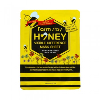 Farm Stay Honey Mask :  Honey Propolis extract that has ample of amino acid and mineral gives nutrition and moisturizes dried skin and makes moist and healthy skin.  10pcs(bag)