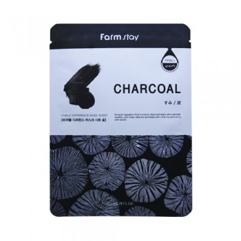 Farm Stay Charcoal Mask  Charcoal Mineral ingredient that contains charcoal helps skin maintain healthy, and helps cleanse and keep skin clean by absorbing skin waste.10pcs(bag)