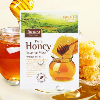 Pure Mind 蜂蜜精華面膜  蘊含天然蜂蜜萃取,能有效潤澤肌膚,使肌膚形成天然保護層,能較好地防止表層水分蒸發。蜂蜜具多種天然營養,能幫助減退臉上的粉刺及斑點,使肌膚明亮照人,緊繳富彈性,為乾燥的肌膚重拾光彩。10pcs(box)